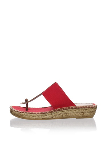 André Assous Women's Thong Espadrille (Red)