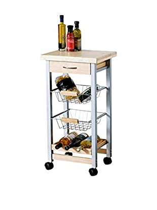 Premier Housewares Küchenwagen Rubberwood