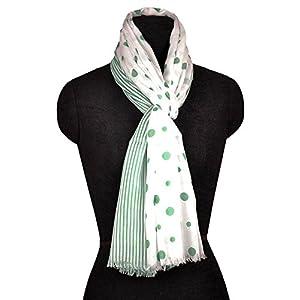 Indisplash Fashion Polka Dot & Stripes Scarf