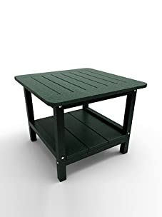 "Malibu Outdoor Furniture 24"" Square End Table (Turf Green)"