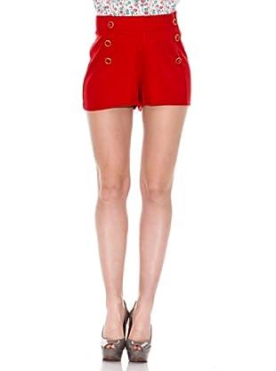 Springfield Short Botones (Rojo)