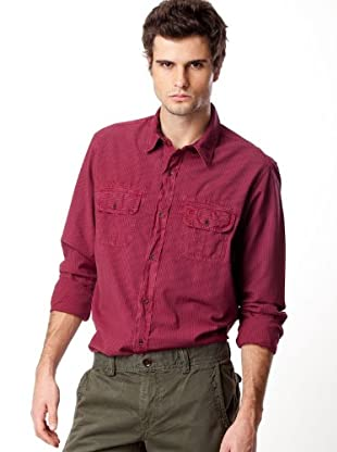 Timberland Camisa Rayas (Granate / Marrón Chocolate)
