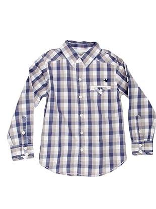 Naf Naf Chevignon Camisa Bolsillo (azul / gris)