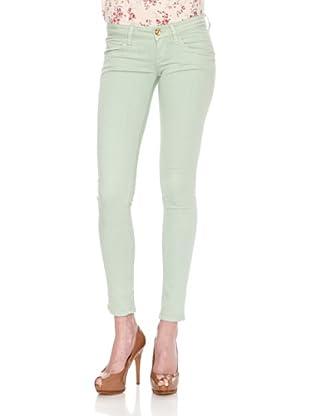 Fornarina Pantalón Blanca Apple (Verde Menta)
