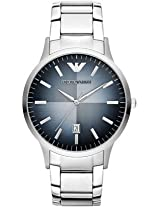 Emporio Armani Men's AR2472 Classic Analog Display Analog Quartz Silver Watch