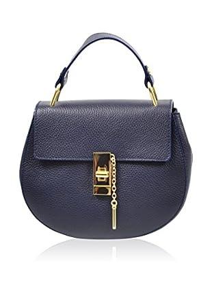 Carla Belotti Bolso asa de mano Handbag Vik Blue