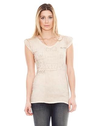 Calvin Klein Jeans Camiseta NY (Crema)