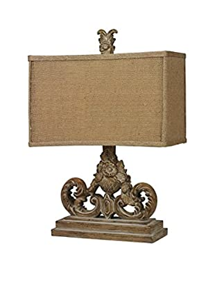 Artistic Lighting Table Lamp, Aged Wood