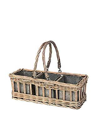Skalny Willow Drop Handle With Tin Pots, Natural/Silver