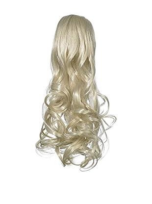 Love Hair Extensions Kunsthaar-Pferdeschwanz Gushy Bird mit Krokodilklemme 35cm 18 Ash Blonde