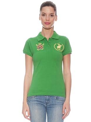 Polo Club Polo manga corta Custom Fit Escudo Real (Verde)