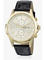 An3512-03P Black/Golden Chronograph Watch CITIZEN