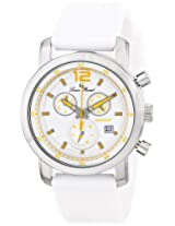 Lucien Piccard Men's LP-12585-02-YA Toules Analog Display Swiss Quartz White Watch