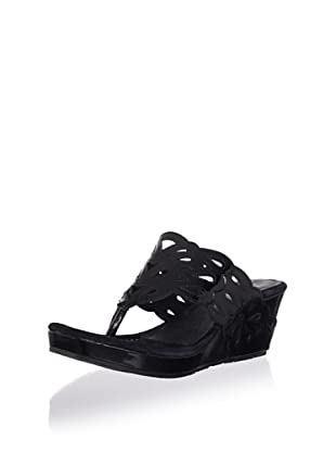 Donald J Pliner Women's Gustaf Wedge Sandal (Black)