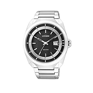 Citizen Eco-Drive Analog Black Dial Men's Watch - AW1010-57E