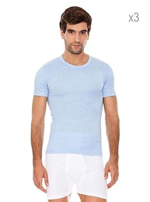 Abanderado Pack x 3 Camisetas Corta Fibra Invierno (Celeste)