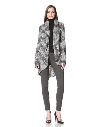 525 AMERICA Women's Cocoon Sweater (Black Combo)