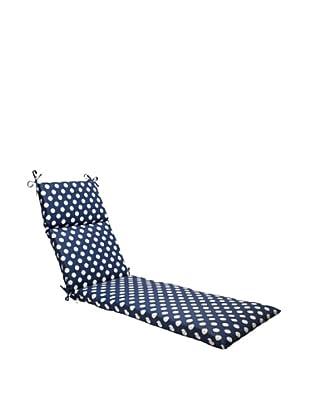 Waverly Sun-n-Shade Solar Spot Pool Chaise Lounge Cushion (Navy/Cream)