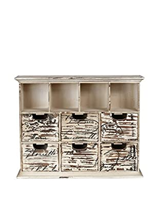 Privilege, Inc. Decorative Washed Wood Jewelry Chest
