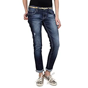 Mid Wash Rugged Jeans
