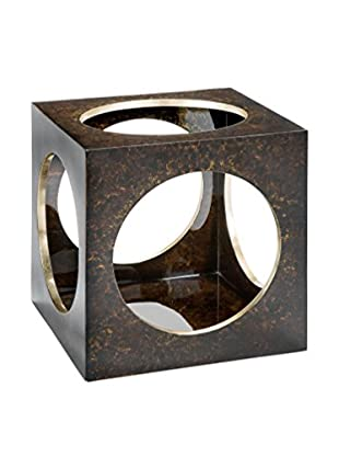 Home Philosophy Roulette End Table, Brown/Gold