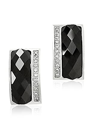 ART DE France Pendientes Faceted Negro