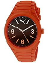 PUMA Unisex PU103592011 Gummy fading orange Analog Display Watch