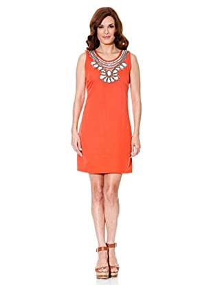 Cortefiel Kleid Leinen (Orange)