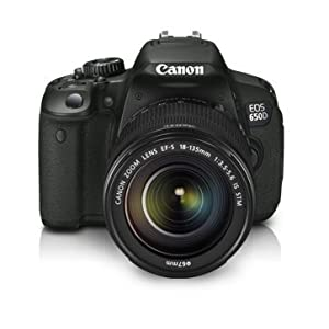 Canon EOS 650D SLR Camera with IS STM Lens