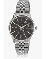 5129105 Silver/Black Analog Watch Ted Lapidus