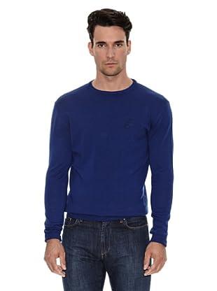 Versace Jersey Cuello Redondo Logo (Azul)