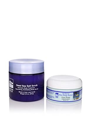 Dead Sea Spa Care Ocean Therapy Salt Scrub and Ocean Therapy Shea Body Butter, 2 Pack