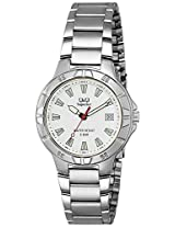 Q&Q Analog White Dial Men's Watch - W588-201