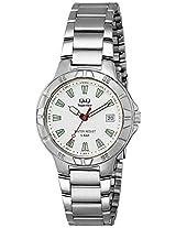 Q&Q Analog White Dial Men's Watch - W588-201