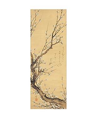 Artopweb Panel de Madera Tronco Di Susino In Fiore