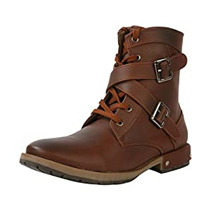 Bacca Bucci 937 Men's Synthetic Boots, Brown