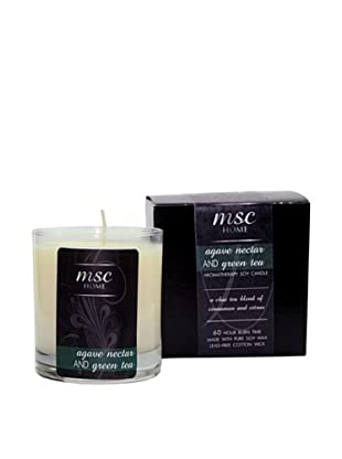 MSC Skin Care and Home 8-Oz. Soy Candle in Glass Vessel, Agave Nectar/Green Tea