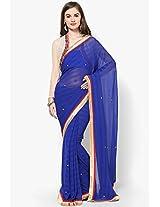 Blue Embellished Saree Sahiba