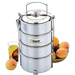 Anupam Big Hot Tiffin Canisters, 3-Pieces