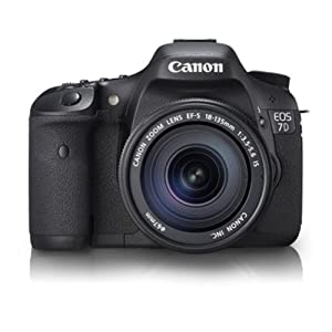 Canon EOS 7D 18MP Digital SLR Camera (Black) with EF-S 18-135 IS Lens