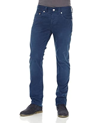 True Religion Pantalón Color 5 Bolsillos (Azul)