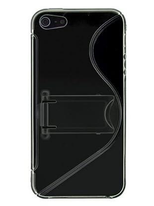Blautel iPhone 5 Carcasa Protectora Trasera Stand Plast Negro