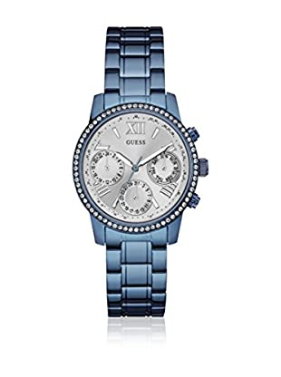 Guess Uhr mit japanischem Mechanikuhrwerk Woman Mini Sunrise Blue blau 36.5 mm
