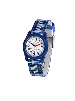 CASIO 19510 MTR-13B-2B - Reloj Infantil Unisex correa textil dial blanco