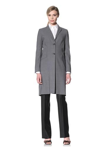 Luciano Barbera Women's Two-Button Wool Coat (Grey)