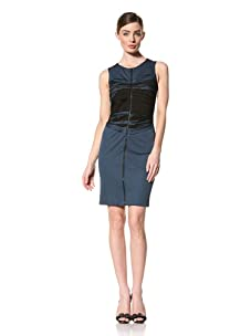 Doo.Ri Women's Sleeveless Zip-Front Dress (Blue Combo)