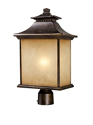 Elk 42184/1 San Gabriel 1-Light Outdoor Post Light In Hazelnut Bronze