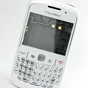 Replacement Faceplate Housing Body Panel for BlackBerry 8520 CURVE -White Color