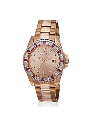 Akribos XXIV Women's AK702RG Rose-Tone Stainless Steel Watch