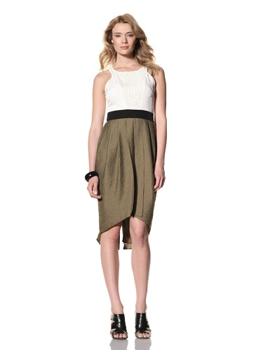 Twinkle by Wenlan Women's Simple Sophistication Dress (Ipanema Sage)
